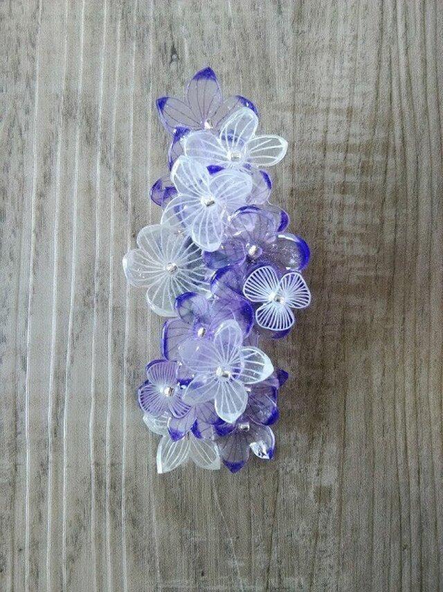 お花のピンブローチ×クリップ(2way)の画像1枚目