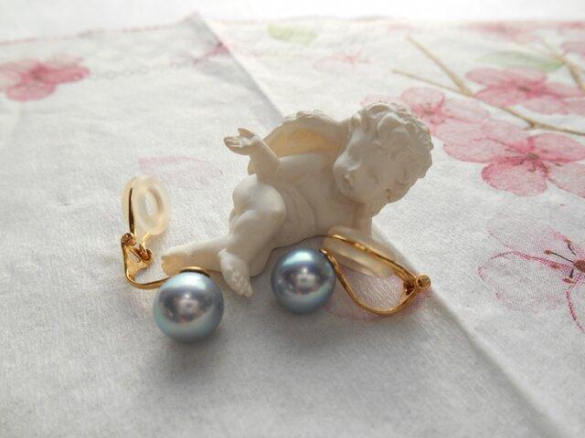 あこや真珠イヤリング(E-2976)の画像1枚目