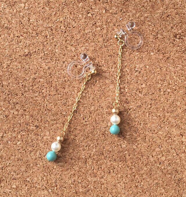 Swarovski earring【swing】の画像1枚目