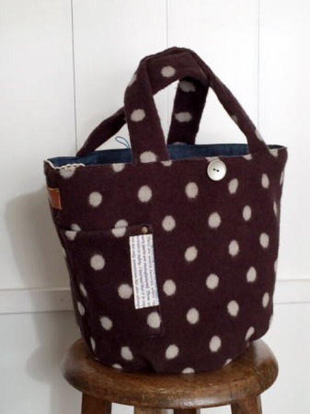 マルシェ型wool bagの画像1枚目