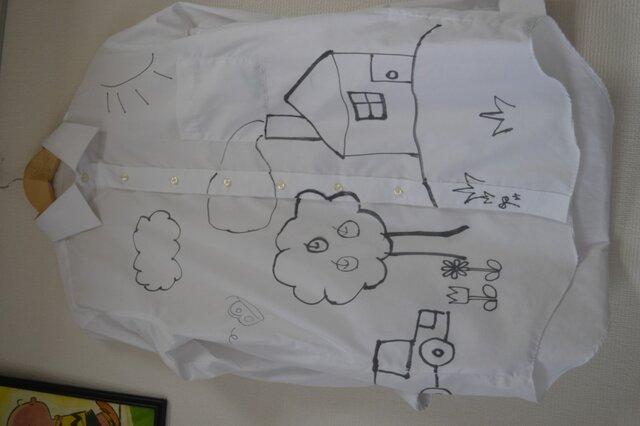 手描きシャツ(長袖)「あるところに」の画像1枚目