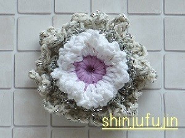 【Sold】お花畑のコサージュ23の画像1枚目