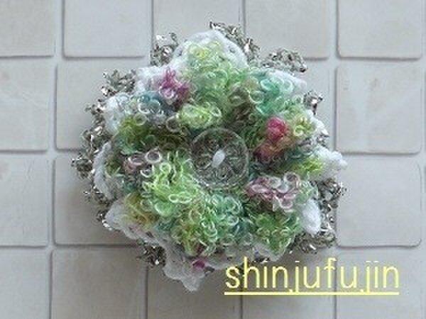 【Sold】お花畑のコサージュ24の画像1枚目