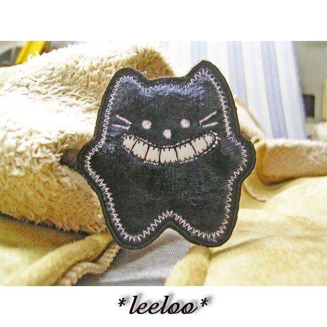 ★星の黒猫★アップリケ/刺繍ワッペン★小1の画像1枚目