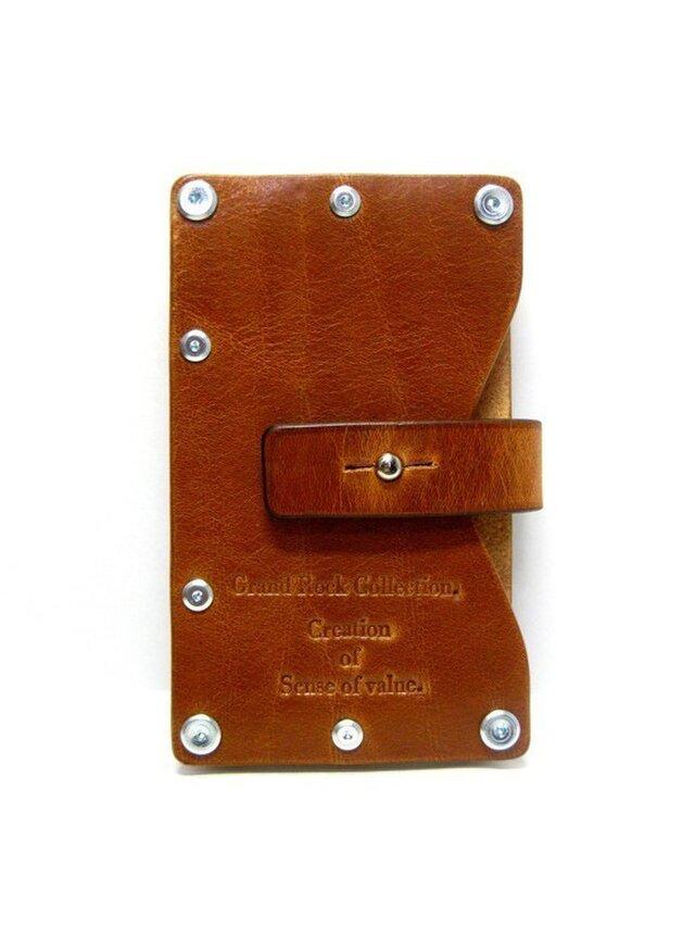 Card case-002-名刺入れ キャメルの画像1枚目