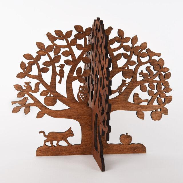 りんごの木(木製アップルツリーオブジェ)の画像1枚目