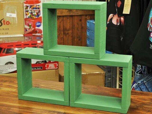 ウッドボックス 3個セット[グリーン]の画像1枚目