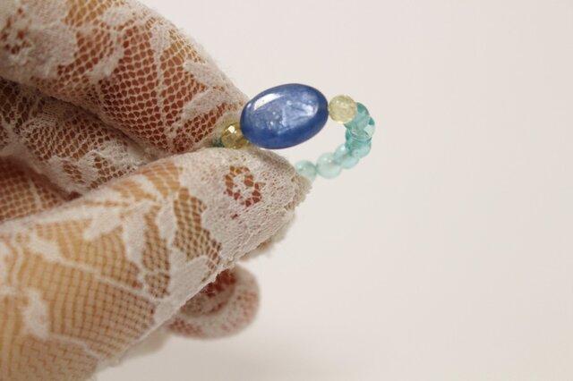 カイヤナイト & アパタイト Ringの画像1枚目