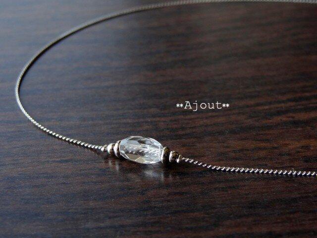 ハーキマーダイヤモンドのネックレス《N-116》の画像1枚目