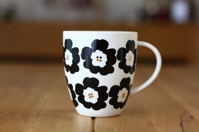 Hanaco(黒)/ マグカップの画像1枚目