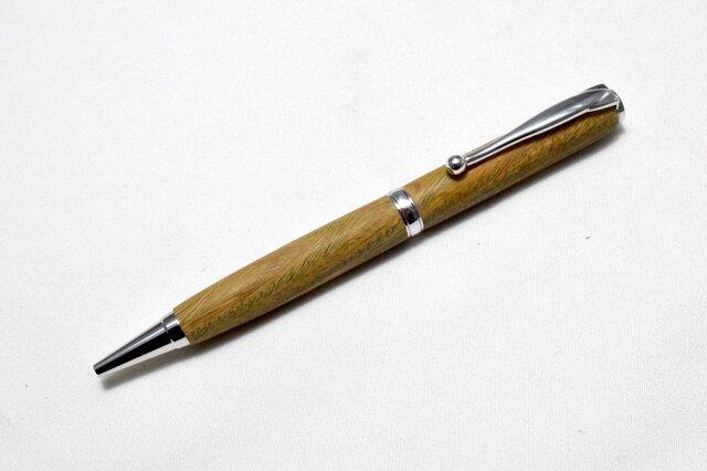 [再出品]【リグナムバイタ】手作り木製ボールペン スリムライン CROSS替芯の画像1枚目