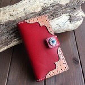 iPhone スマートフォンケース  赤色の画像1枚目