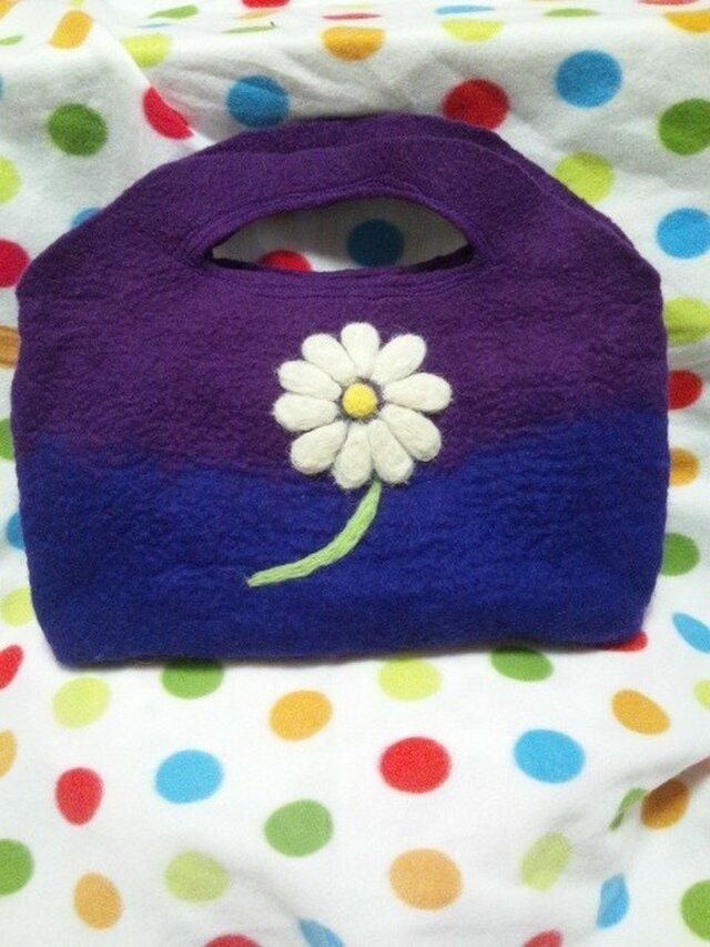 羊毛 デイジーのバッグ♪の画像1枚目