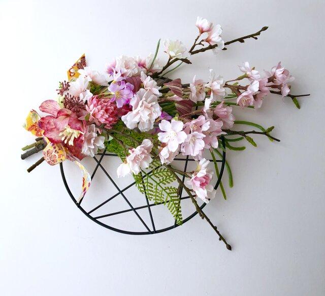 春 桜の壁掛け飾りの画像1枚目