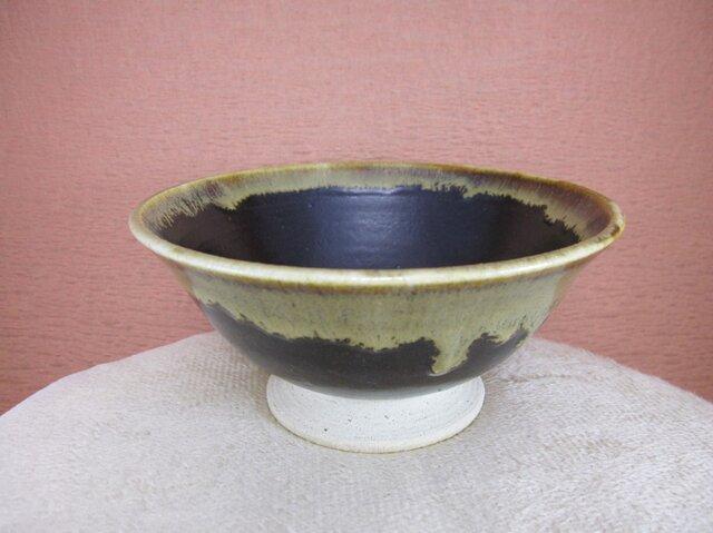 陶器お茶漬け茶碗 黒+うす茶の画像1枚目