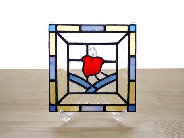 ステンドグラスパネル 千鳥 Mサイズの画像1枚目