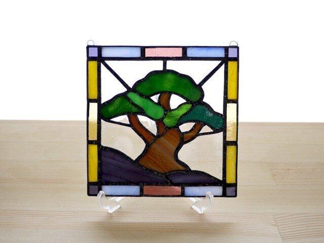 ステンドグラスパネル 松 Mサイズの画像1枚目