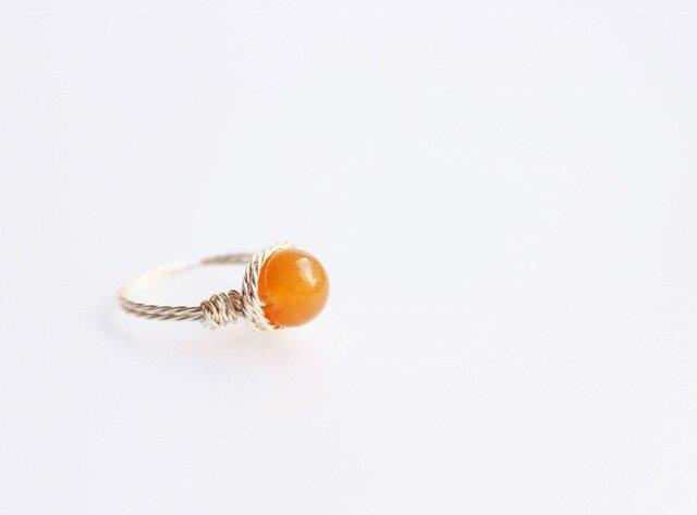 オレンジ アベンチュリン Wire Ringの画像1枚目