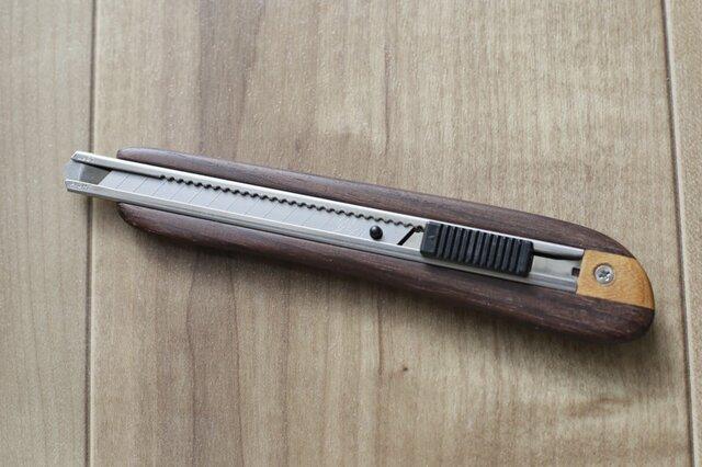 【限定】右利き用木製カッターナイフ(ローズウッド)の画像1枚目