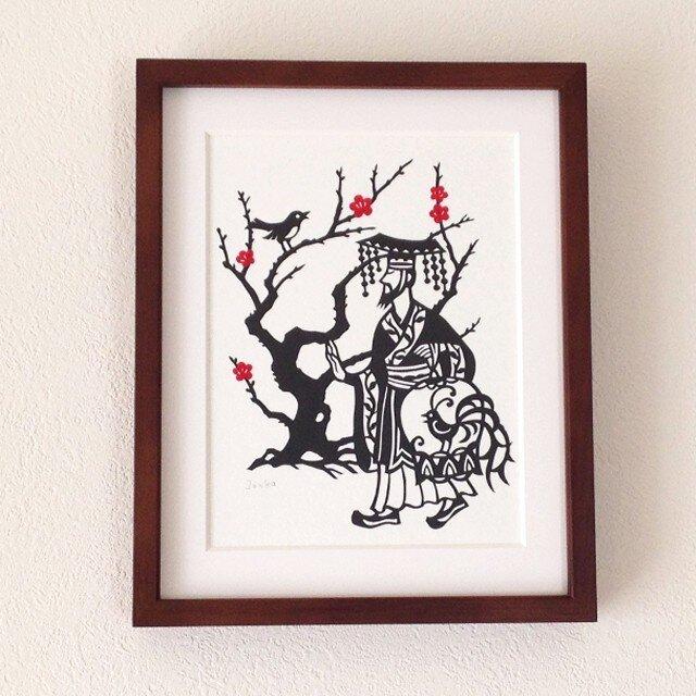 童話切り絵「小夜鳴鳥」の画像1枚目