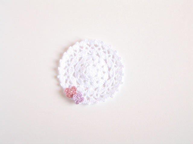 小花レースドイリー(ピンク)の画像1枚目