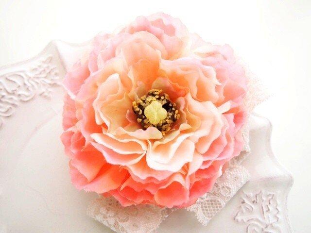入園入学卒業、結婚式に華やかピオニー・オレンジピンクの画像1枚目