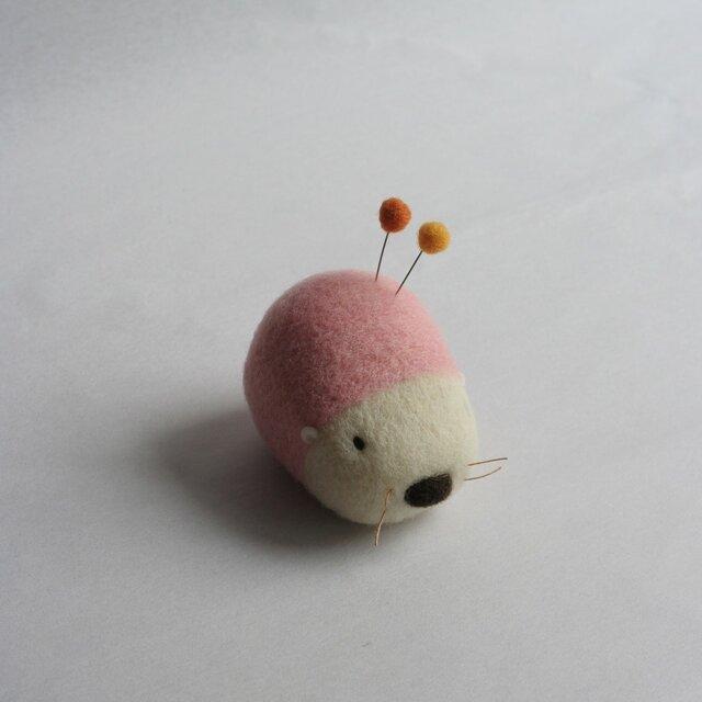 羊毛はりねずみ針山・・・(さくら)の画像1枚目