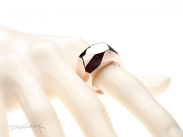 PinkSilver 磨かれた重たすぎる指輪の画像1枚目