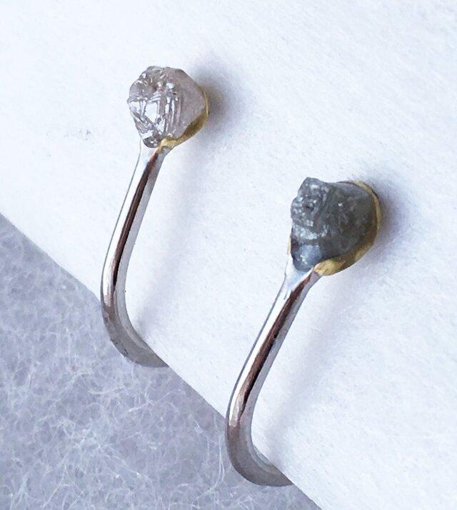 ダイアモンド原石◇イヤリングの画像1枚目