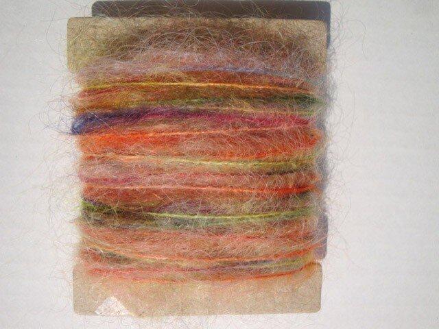 フワフワモヘア虹色糸の画像1枚目