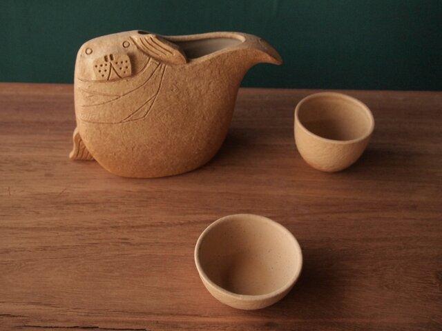 【 シールカラフェセット Seal Carafe Set 】 アザラシ徳利と猪口セットの画像1枚目