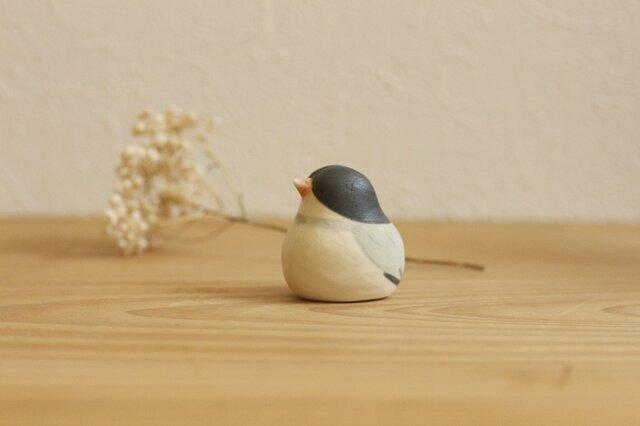 【如月・新作】文鳥 (受注制作)国産ヒノキの木箱入りの画像1枚目