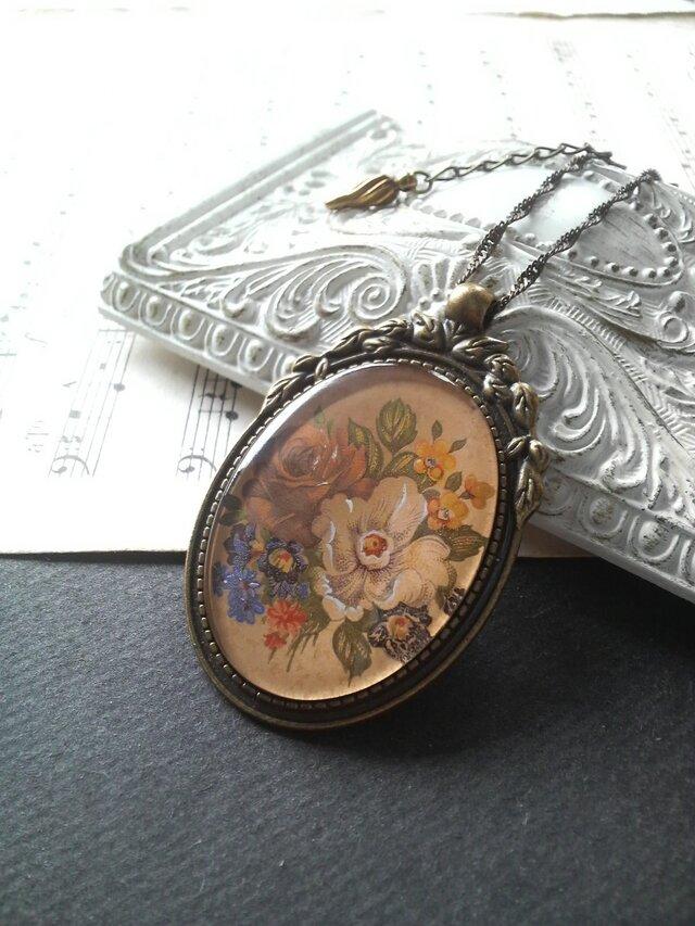 ヴィンテージ 薔薇Bouquet/Gold ロマンチックネックレスの画像1枚目