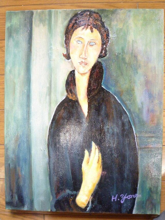 モディリアーニ「青い目の女」模写の画像1枚目