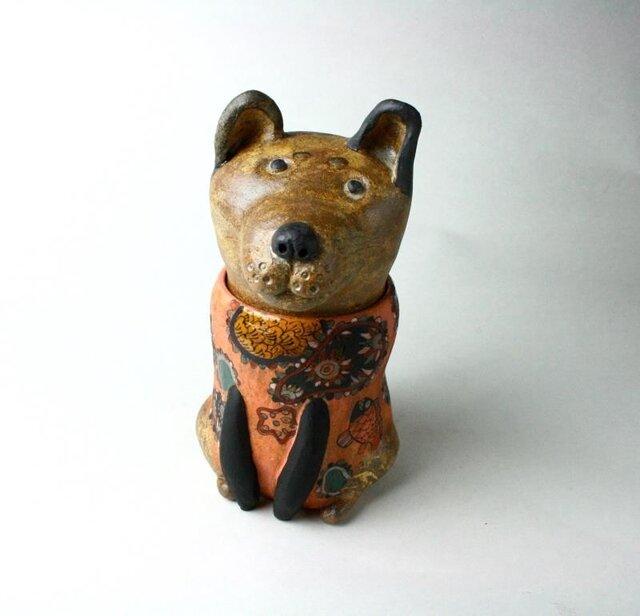 日本の犬の陶箱 / 陶芸作品 /  犬箱 /犬陶器 / contemporary ceramic art /犬アートの画像1枚目
