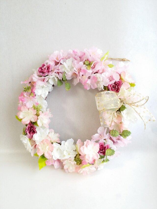 *桜~チェリーブロッサム~* ナチュラルリース☆の画像1枚目