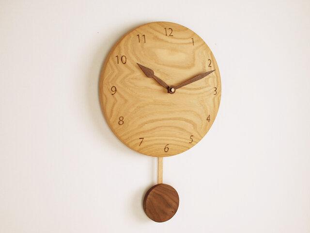 木製 振り子時計 栗材5の画像1枚目