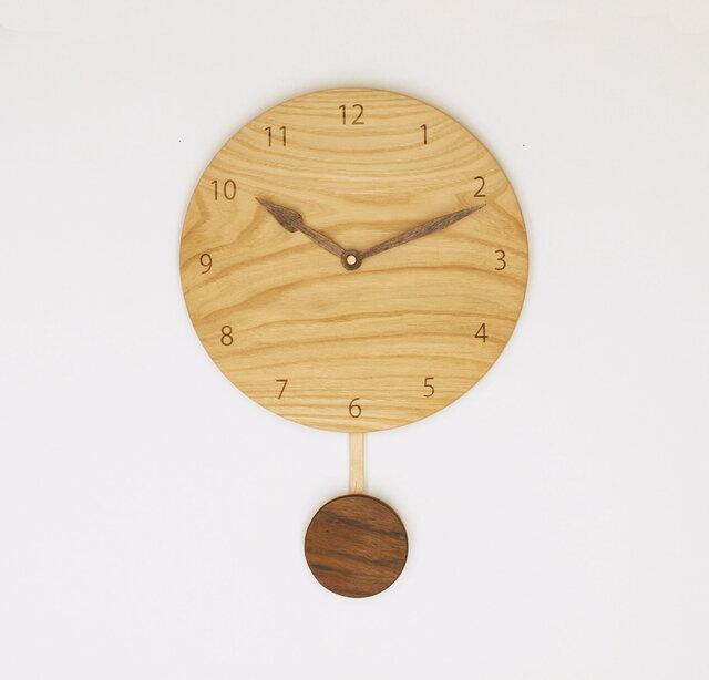 木製 振り子時計 栗材10の画像1枚目