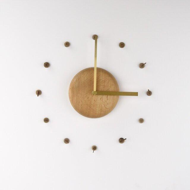 【受注生産】どんぐりの時計の画像1枚目