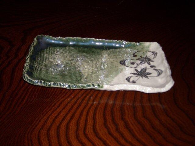 織部角皿の画像1枚目