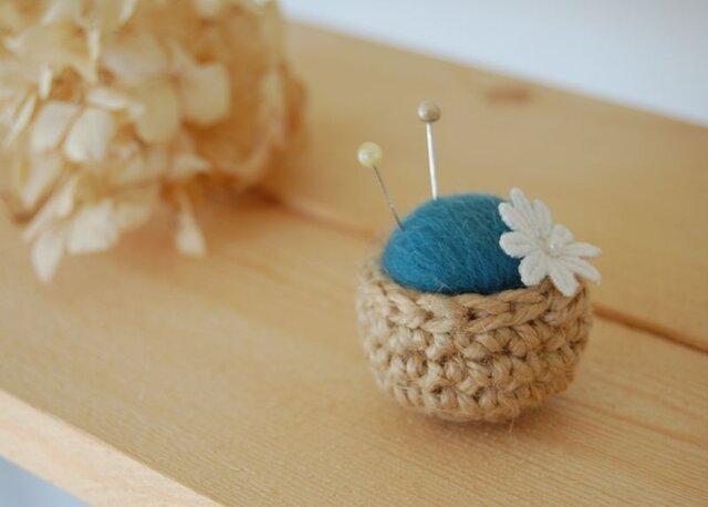 《再販》mini mini ピンクッション ブルーグリーンの画像1枚目