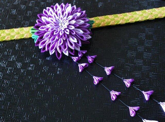 つまみ細工 大輪菊の2wayクリップの画像1枚目