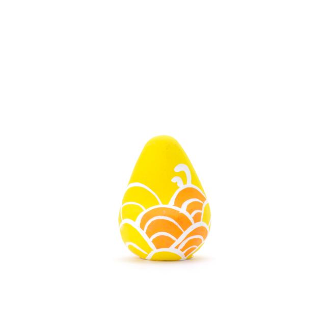 願い玉(青海波文様)黄の画像1枚目