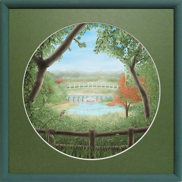 CG版画「夏の湖」の画像1枚目