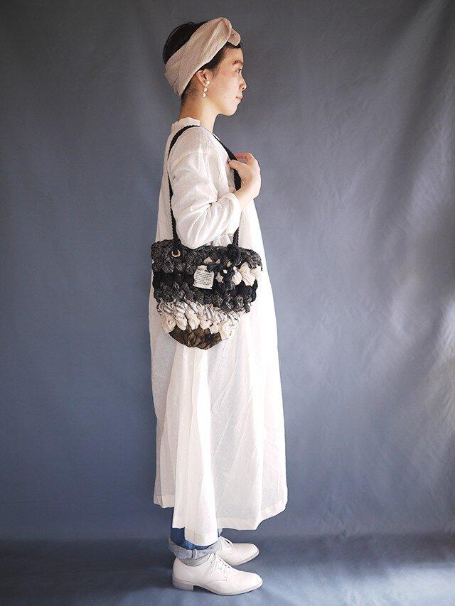 指編みbag(woolmix) bの画像1枚目