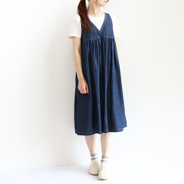 児島デニムのジャンパースカートの画像1枚目