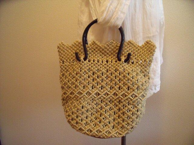 マクラメ編みのバッグの画像1枚目