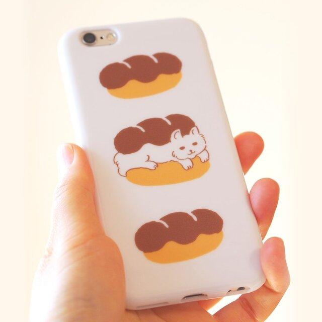 猫とパン【ソフトiPhoneケース】#iPhoneXs/XR対応の画像1枚目
