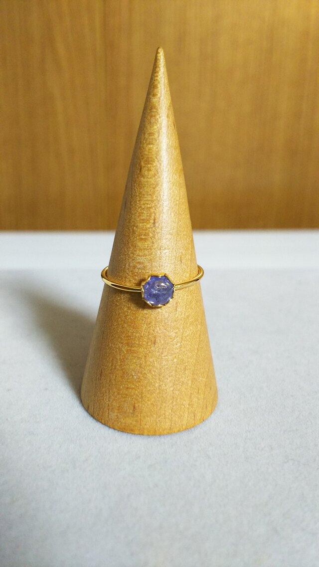 宝石質タンザナイトベゼルリング(13号)の画像1枚目