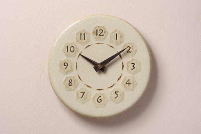 亀甲・丸型φ210(陶製掛時計)の画像1枚目